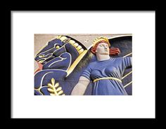 Lady And Her Pegasus Stallion Framed Print By Alice Gipson