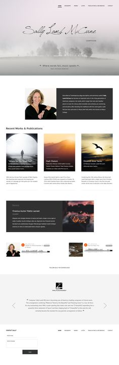 Web site design for Sally Lamb McCune, a modern composer Site Design, Sally, Lamb, It Works, Modern, Trendy Tree, Website Designs, Nailed It, Yard Design