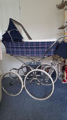 Lovely Marmet Charlotte. chrome all nice and a shiney. tyres good. only fault on pram small tear on hood as in pic. comes with original matching mattress and shopping tray. bag not included or bedding | eBay!