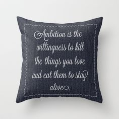 Jack Donaghys throw pillow from 30 rock Throw Pillow by Taylor Jean - $20.00