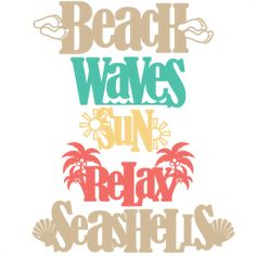 Beach Word Titles SVG scrapbook cut file cute clipart files for silhouette cricut pazzles free svgs free svg cuts cute cut files