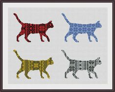 Nordic Ornament Christmas Cat Cross Stitch par CrossStitchForYou