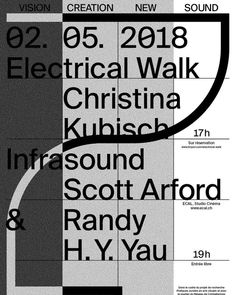 #ECAL presents an #electric #walk by #ChristinaKubisch (5pm - sold out) and a #concert (free) by #ScottArford & #RandyYau on 2 May 7pm…