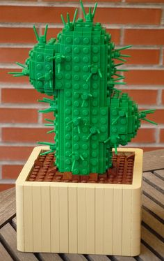 LEGO Cactus, I love this as a substitute for live plants in kid's room