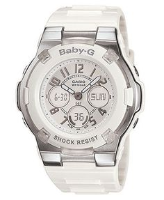 Have this one in my collection already...  Baby-G Watch, Women's White Resin Strap BGA110-7B