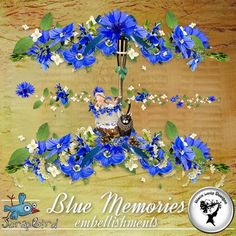 Blue Memories - Embellishments by BlackLadyDesigns