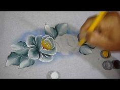 Pintura de tecido rosas hortênsias por Ana Laura Rodrigues -29/05/2014 - Mulher.com - Parte 2/2 - YouTube