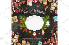 Christmas card. Wooden #christmas #santa