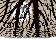 """Escher """"Rippled Surface"""" 1950"""