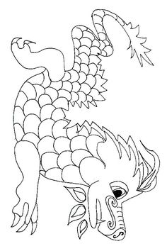 Coloriage Dragons Dragons Chinois To Paint Ancient China Coloriage . New Year Coloring Pages, Coloring Books, Colouring, Painting For Kids, Art For Kids, New Year Art, Chinese New Year Crafts, Dragon Coloring Page, China Art