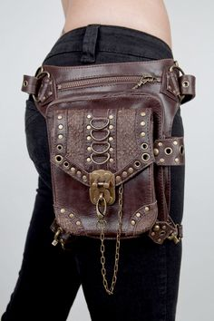 steampunk luggage | steampunk female package inclined travel bag, mini pocket Waist Bags ...