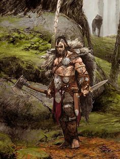 """""""blood rage- boardgame-CMON"""" by adrian smith Fantasy Character Design, Character Concept, Character Art, Concept Art, High Fantasy, Fantasy Rpg, Medieval Fantasy, Fantasy Inspiration, Character Inspiration"""