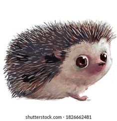 Hedgehog Drawing, Instagram Highlight Icons, Cute Characters, Royalty Free Photos, Illustration, Character Design, Creatures, Clip Art, Bird