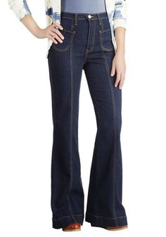 Wear With All Jeans - Denim, Woven, Blue, Pockets, Casual, Vintage Inspired Better, Exclusives, Solid, High Waist, High Rise, Full length, Blue, Gifts Sale, Dark Wash