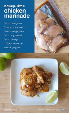This Honey-Lime Chicken Marinade is great for grilling! Wow your next BBQ guests with lean protein that packs a punch.