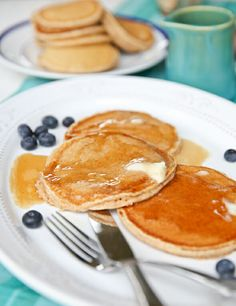 Whole Wheat Pancake Recipe Breakfast Time, Breakfast Recipes, Breakfast Ideas, Dinner Recipes, Freeze Pancakes, Cast Iron Skillet Cooking, Cooks Country Recipes, Whole Wheat Pancakes, Americas Test Kitchen