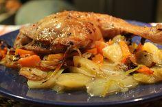 Mi puchero Pollo asado con verduras, más que sano, más que fácil, más que barato