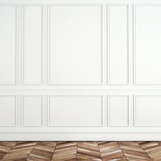 ...  then reality hit: These built-in paneled accent moldings were now defining what she could and couldn't do, art-wise — a big problem for a big art collector like her.
