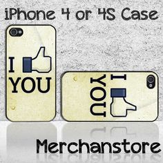 I Like You Funny Custom iPhone 4 or 4S Case Cover
