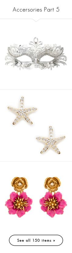 """Accersories Part 5"" by jakela778 on Polyvore featuring jewelry, earrings, no color, 14k gold jewelry, starfish stud earrings, yellow gold earrings, 14k earrings, gold starfish earrings, pink and pink clip on earrings"