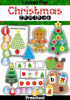 FREE Christmas Preschool Centers