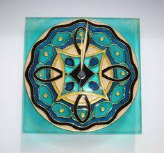 Magic Celtic Mandala Wall Clock Glass Clock Wall by heraglass  #mandala #lakasdekoracio #ajandekotlet #egyediuvegora #kézműves #egyediajándék