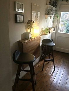 Wall mounted dining Table kitchen Foldable OAK MADE TO ORDER 3/4 WEEKS