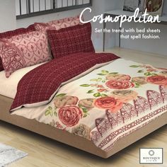 Made from 100% mercerised cotton, the #Cosmopolitan collection from #BoutiqueLiving adorns a lustrous sheen! #Trending #Modern #Bedding #Luxury