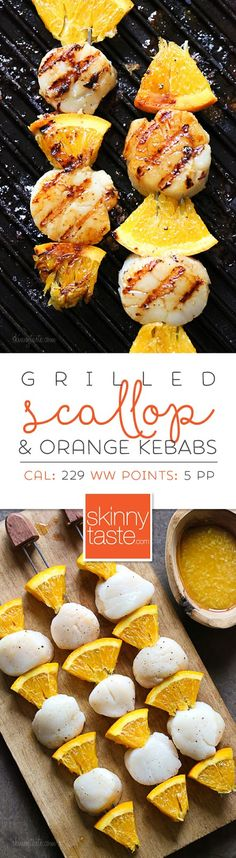 Grilled Scallop and Orange Kebabs with Honey-Ginger Glaze – 5 ingredients, ready in 15 minutes!