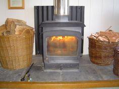 Woodburning stove at Kirkland Lodge