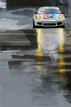 Нашла художника, который рисует гонки и гоночные автомобили! Очень ярко и красиво и хочу с вами поделиться) Его зовут Doug Garrison. Крутяк?