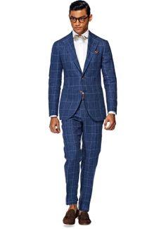 Abito Blu Quadri Hudson P3836 | Suitsupply Online Store