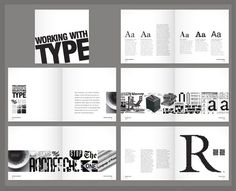 I really like the contrast of black and white in this book layout. I think a similar approach would work for this upcoming book project. There is a strong grid that is carried through each spread, which makes the content flow nicely.