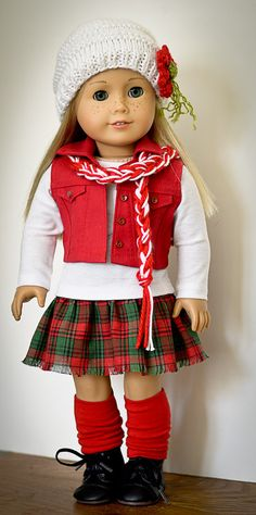 Casual Christmas Outfit forAmerican Girl doll by AnnasGirls