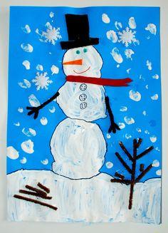 Snowman Christmas Card Idea