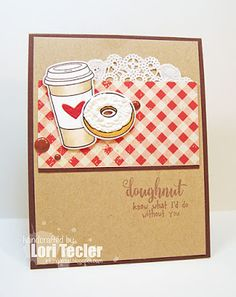 Doughnut Know card-designed by Lori Tecler/Inking Aloud-stamps and dies from Waltzingmouse Stamps Cupcake Card, Coffee And Donuts, Coffee Theme, Lawn Fawn Stamps, Coffee Cards, Pajama Party, Deck Of Cards, Drinking Tea, Card Templates