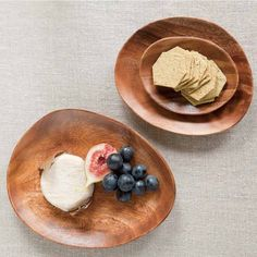 Sada 3 oválnych misiek z akácie Hummus, Ethnic Recipes, Food, Essen, Meals, Yemek, Eten