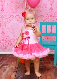 Lollipop Moon Rose Bouquet Tutu Dress