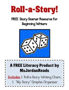 {FREE} Roll-a-Story Writing Activity. Writing during Daily 5 1st Grade Writing, Kindergarten Writing, Teaching Writing, Teaching Ideas, Primary Teaching, Teaching Tools, Teaching Language Arts, Classroom Language, Speech And Language