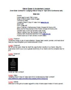 Silent Easter/Atonement lesson  References April Conference 2012  *Works for all youth groups that can read posters.*