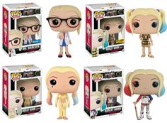 Funko will release a set of Pop figures for characters from the 'Suicide Squad' movie, including a few variant versions of Margot Robbie's Harley Quinn and Jared Leto's Joker. Funko Pop Marvel, Geeks, Funko Pop Dolls, Pop Figurine, Disney Pop, Pop Toys, Pop Characters, Joker And Harley Quinn, Funko Pop Vinyl