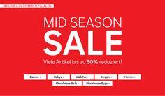 C&A: Mid Season Sale mit bis zu 50% Rabatt + 10% Newsletter Gutschein