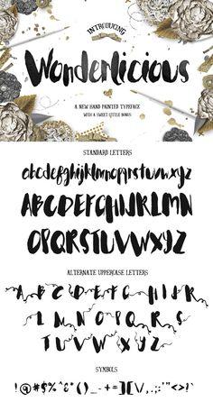 Wonderlicious Typeface by Creativeqube Design on @creativemarket