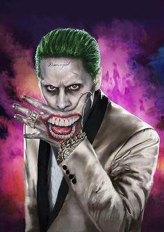 Luxury Harley Quinn Y Joker Disfraz - Disfraz Joker Batman, Joker Y Harley Quinn, Harley Quinn Drawing, Joker Arkham, Gotham Batman, Batman Art, Batman Comics, Batman Robin, Jared Leto Joker