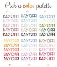 Fun Day Off Planner Sticker, Bright Color Planner Stickers, Fits Erin Condren Planner Stickers Kikki-k planner sticker and other planners