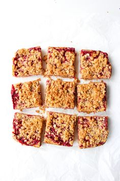 Raspberry Crumble Bars - double the crumble surrounding a sweet and tangy…