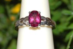 Pretty Pink Topaz Ring Size 6.25 in Sterling by WindstoneDesigns, $36.95