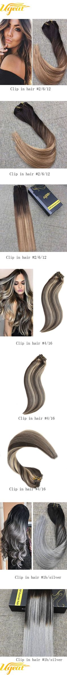 Ugeat clip in hair already had strong clips attached, easy to apply.Choose  Ugeat hair to be a unique lady#remy human hair #clip in remy human hair  #clip in ...