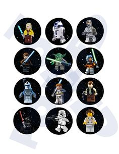 Star Wars Lego Cupcake Toppers by Poized on Etsy