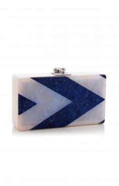 Edie Parker Blue Jean Clutch for Edition01